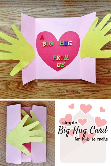 big hug card craft  kids munofore
