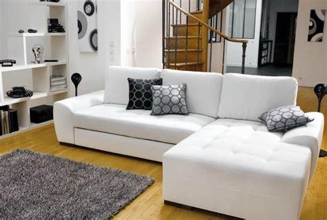 canape blanc d angle photos canapé d 39 angle convertible cuir blanc