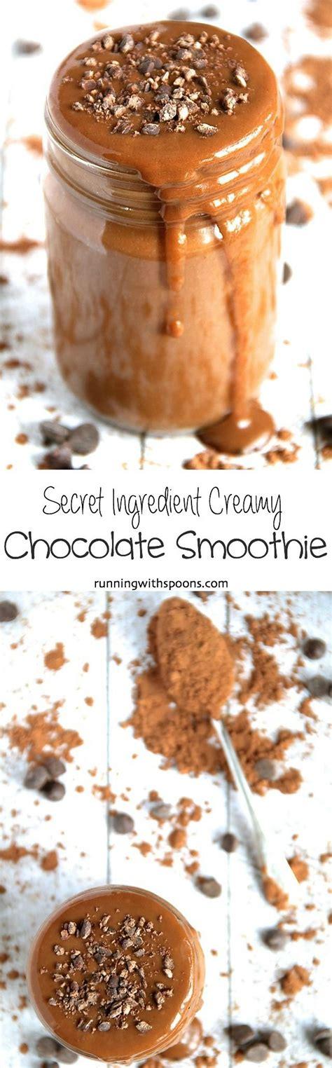 Secret Ingredient Chocolate Smoothie Recipe Running