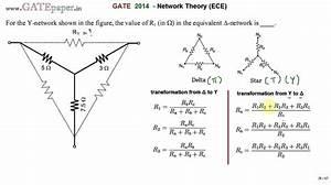 Gate 2014 Ece Star Delta Conversion  The Value Of R1 In