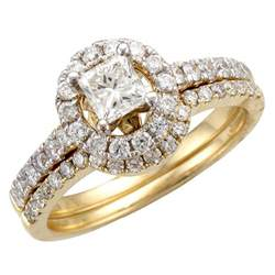 solitaire wedding ring sets bridal sets yellow gold bridal sets wedding rings