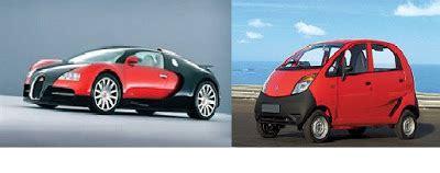 What Is The Cheapest Bugatti by World S Cheapest Car Tata Nano Vs World S Costliest Car