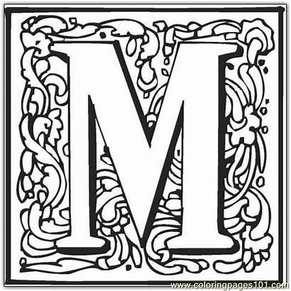 Fancy Alphabet Coloring Letter Pages Letters Block