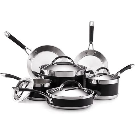 anolon ultra clad  piece cookware set  overstockcom shopping great deals