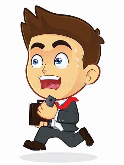 Businessman Running Clipart Cartoon Character Male Clip