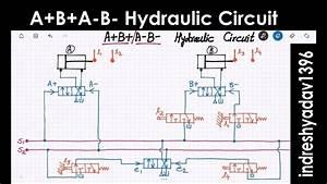 A B A-b- Hydraulic  Pneumatic Circuit - Series Part-2