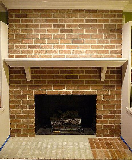 paint for brick fireplace painting brick fireplace from white to beautiful