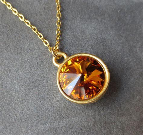 november birthstone jewelry gold topaz necklace november birthstone jewelry crystal