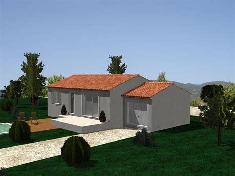 plan maison plain pied 3 chambres gratuit villa sur plan modèle amaryllis 70 m2 à construire dans