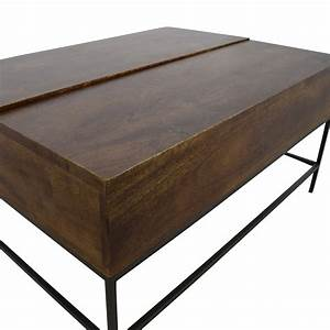 75 off west elm west elm industrial storage coffee With industrial storage coffee table west elm