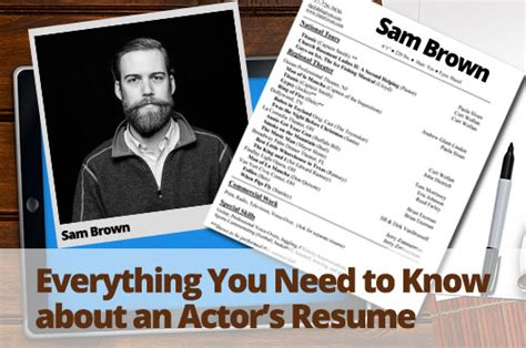 everything you need to about an actor s resume