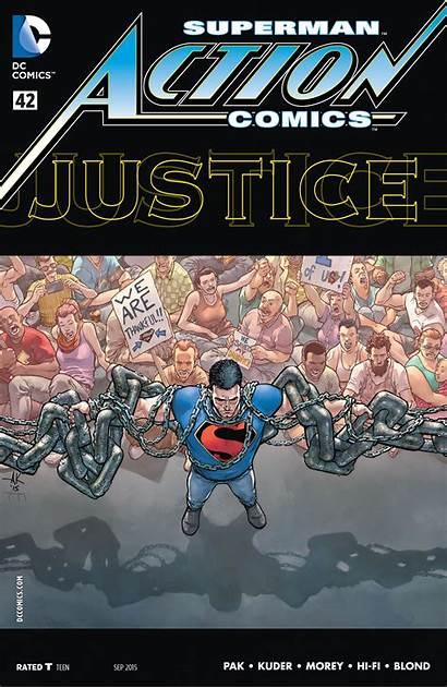 Action Comics Superman Comic Issue Study Violence