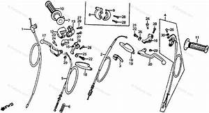 Honda Motorcycle 1980 Oem Parts Diagram For Control Levers    Switches    Cables