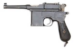 model  french police contract broomhandle pistol