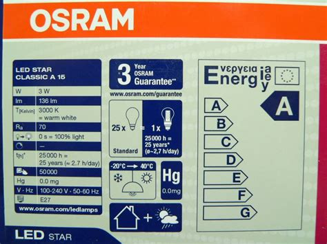 Led Birnen Osram by Led Le Osram In Birnen Tropfenform 3w E27 220v