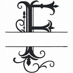 split letter monograms With letter f monogram