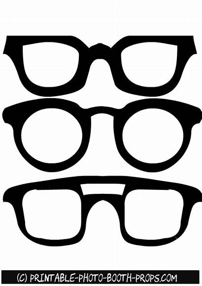 Booth Props Glasses Printable London Party