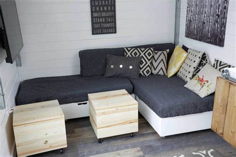 ana white making cushions  tiny house storage