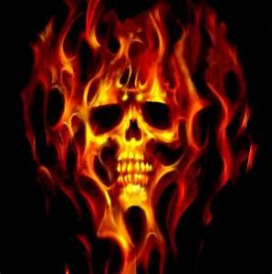 """Flaming Skull"" by Darrell-photos Redbubble"