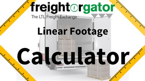 how to measure a linear foot for kitchen cabinets ltl freight linear footage calculator freightorgator 9919