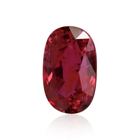 carat red mozambique ruby oval shape  evidence