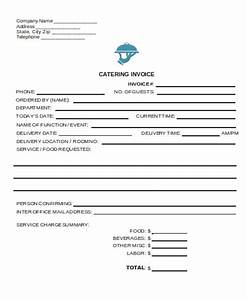 6 catering receipt templates free sample example With catering email template