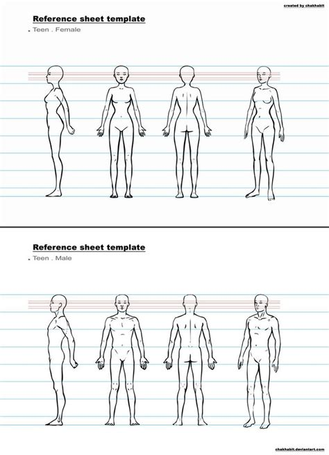 character referee template character design sheet template google search drawing