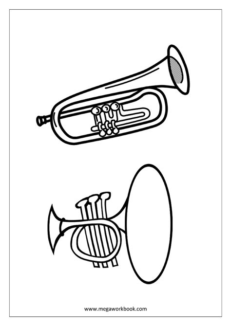 coloring sheets musical instruments megaworkbook