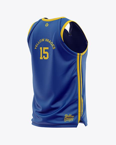 Men's soccer crew neck raglan jersey mockup. Men's Basketball Jersey Mockup - Back Half Side View in ...