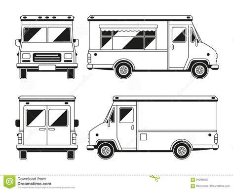 truck template vector truck profile isolated blank vector illustration cartoondealer 10598906