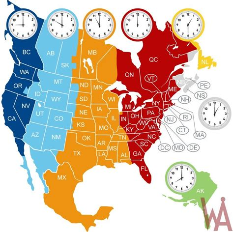 time zone map north america whatsanswer