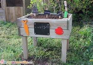 Mini Potager En Bois : un mini potager pour ma jardini re en herbe le pays des ~ Premium-room.com Idées de Décoration