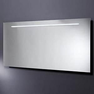 emejing miroir salle de bain lumiere integree pictures With miroir salle de bain avec lampe