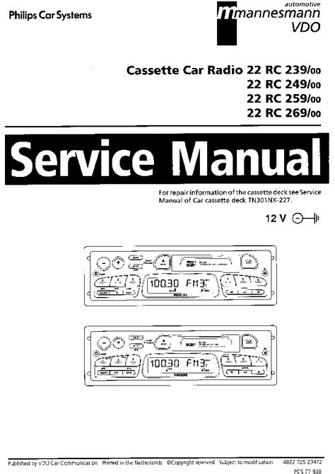 philips 22rc239 249 259 269 service manual schematics eeprom repair info for
