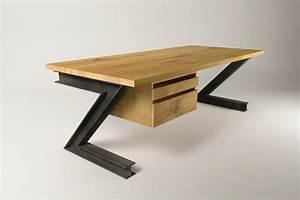 Schreibtisch Nach Maß : karmoi industriedesign schreibtisch eiche ~ Frokenaadalensverden.com Haus und Dekorationen