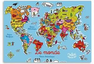 Carte Du Monde En Bois : puzzle carte du monde en bois vilac apesanteur ~ Teatrodelosmanantiales.com Idées de Décoration