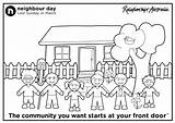 Coloring Neighborhood Map Template Colouring Neighbour sketch template