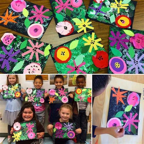 255 best preschool collage images on 155 | d94e4619da53e3418d669bd1a8354cf2 kindergarten printmaking flower art kindergarten