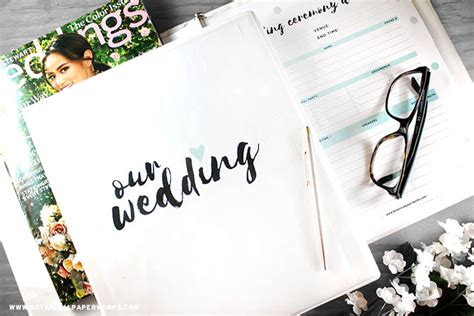 printables wedding planning binder blog