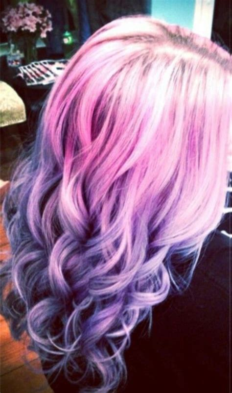 Pink And Purple Pastel Ombre Hair Hair Hair Styles