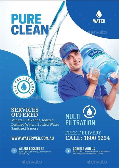 water refilling services flyer refilling water flyer
