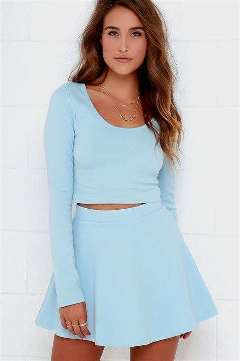 Long light blue dress with sleeves Naf Dresses