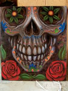 Large Day of the Dead Skull Art