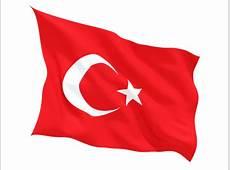 Fluttering flag Illustration of flag of Turkey