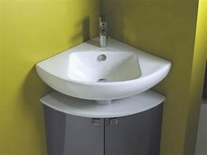 Lavabo D Angle Salle De Bain : 20 meubles pour une petite salle de bains elle d coration appart petite salle de bain ~ Nature-et-papiers.com Idées de Décoration