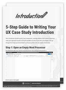 How To Write The Perfect Introduction To Your Ux Case