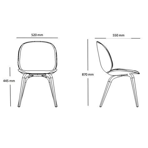 beetle dining chair stuhl mit eichengestell gubi