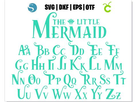 Mermaid Font SVG, Mermaid Font OTF, Mermaid by HotFont on ...