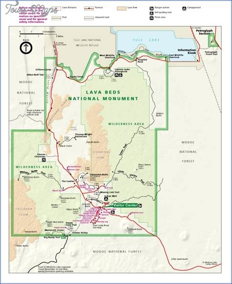 Lava Beds National Monument Map by Lava Beds National Monument Map California Map Travel