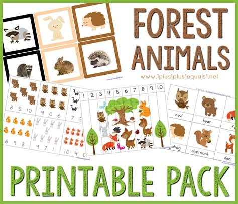 forest animals preschool theme forest animals printable pack 1 1 1 1 891